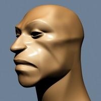 cave man head 3d model