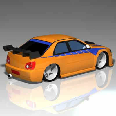 import racer car toy obj