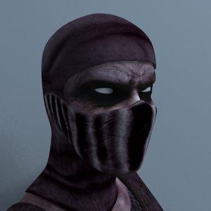ninja warrior 3d model