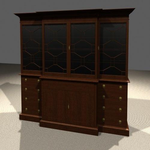 breakfront cabinet max