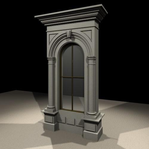gothic window 3d max