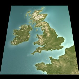 british isles france 3d model