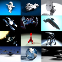space satellite spaceship ship 3d max
