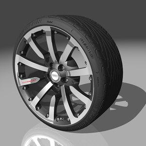 rbd-01 wheel tires 3d model