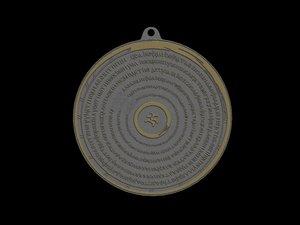 3d model devils trap amulet