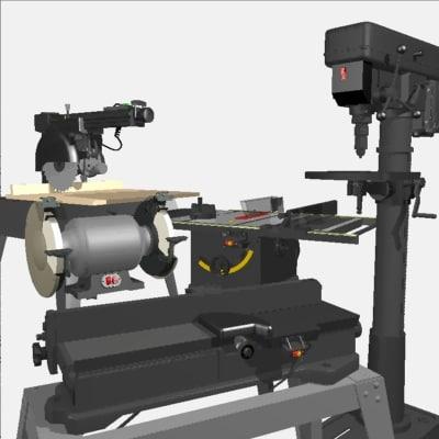 3d model machines woodshop