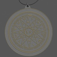 3d mercury amulet model