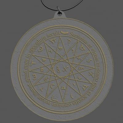 3d mercury amulet model
