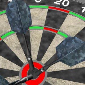 3d dartboard darts model