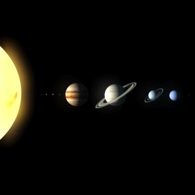 solar planets 3d model