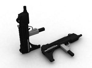 3d uzi gun model