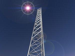 3d model radio tower