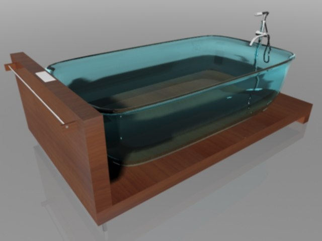 glass bath 3d max