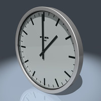 brushed aluminium wall clock 3d max