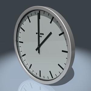 brushed aluminium wall clock 3d max