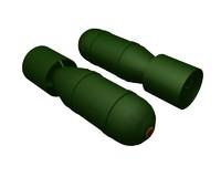 wwii bomb c4d free