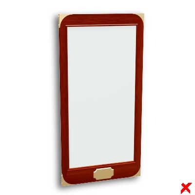 3d mirror furniture model