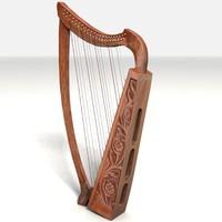 3d model of harp