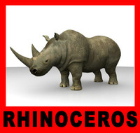 3ds max african black rhino