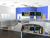 sportshall conversion gym 3d max