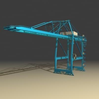 shoreside crane 3d model