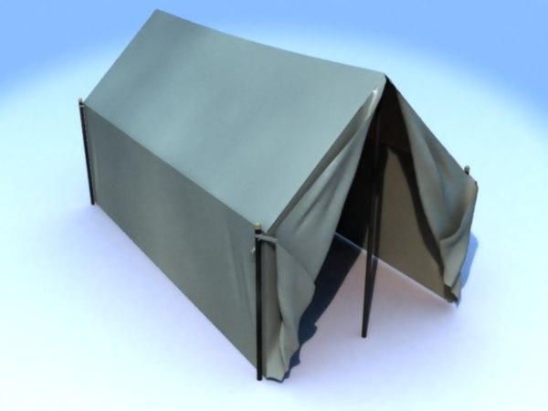 civil war tent 3d model
