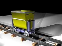3d mining cart model