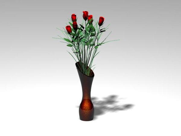 free max mode table vase roses