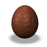 chocolate easter egg c4d