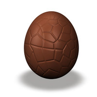 chocolate easter egg 3d 3ds