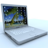 ibook laptop 3d 3ds