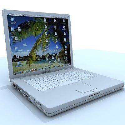 ibook laptop 3d 3ds
