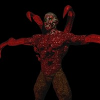 mutant demon character 3d max