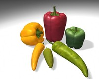3d sweet peppers model