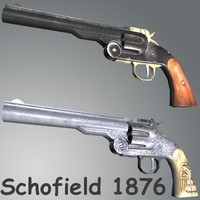 3d smith wesson schofield 1876 model