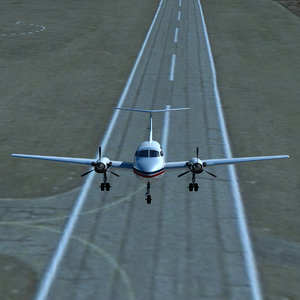 small aircraft landing airport max