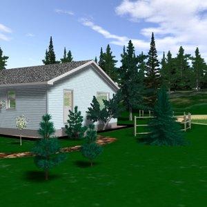 single house house01 3d 3ds