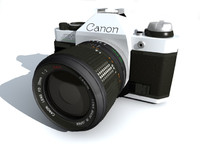 3d model photo camera canon