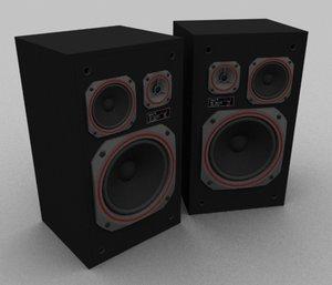 3d max unitra space 70 speakers