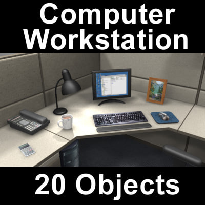 computer workstation 3d max