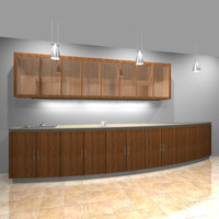 kitchen cabinets counter 3d max