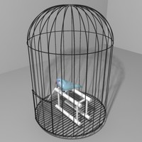 3d parakeet cage