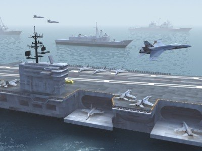 3d model carrier battle group
