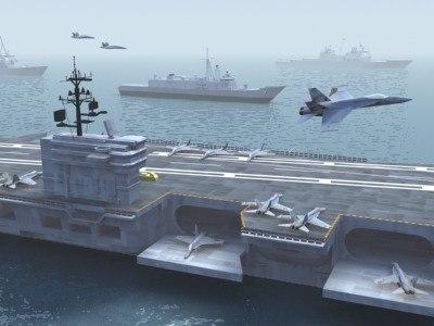 3d model carrier battle group