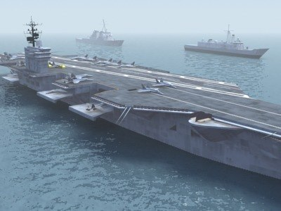 carrier battle group 3d model