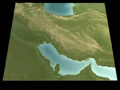 iran gulf 3d model