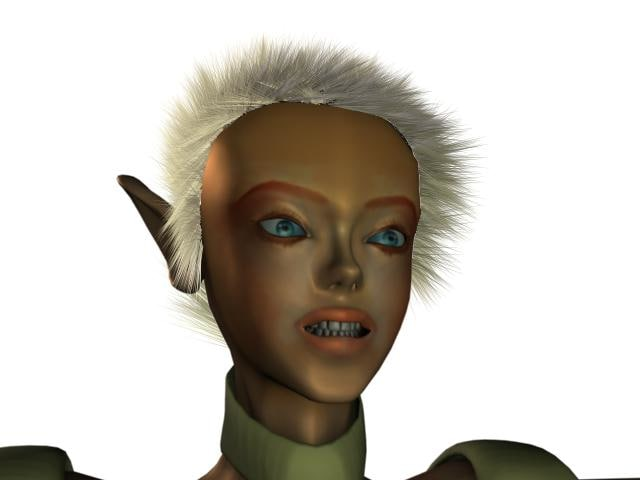 fantasy character viola 3d model