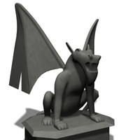 3d gargoyle character games model