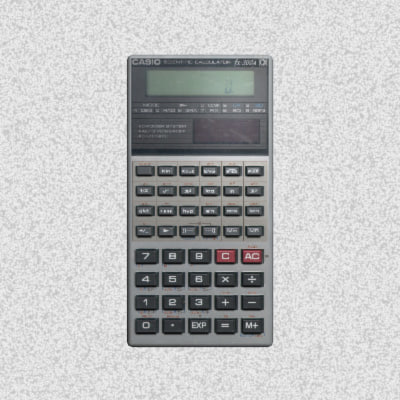 3d calculator home office model
