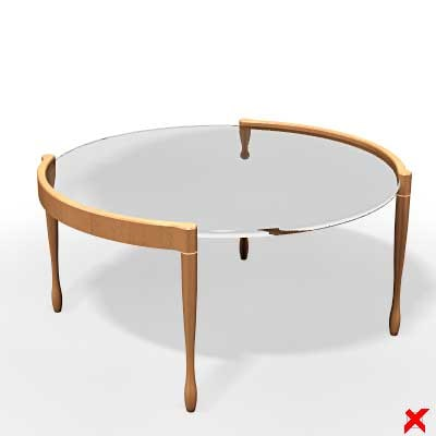 3d table glass model